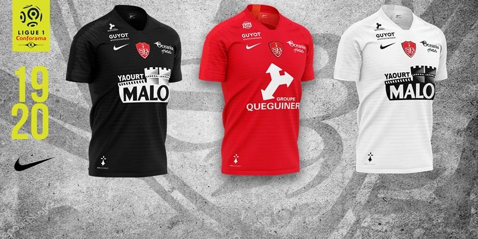 Camisas do Stade Brestois 2019-2020 Nike