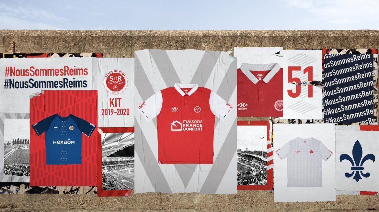 Camisas do Stade de Reims 2019-2020 Umbro