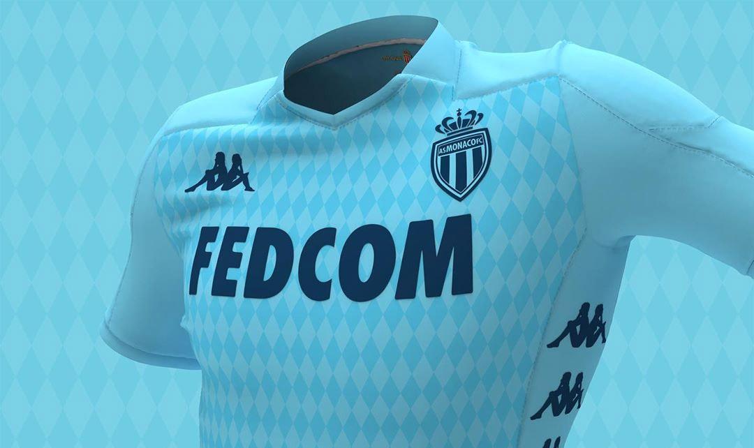 Terceira camisa do AS Monaco 2019-2020 Kappa abre