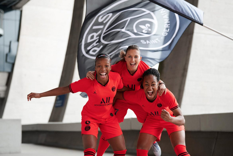 Camisa infravermelha do PSG 2019-2020 Jordan
