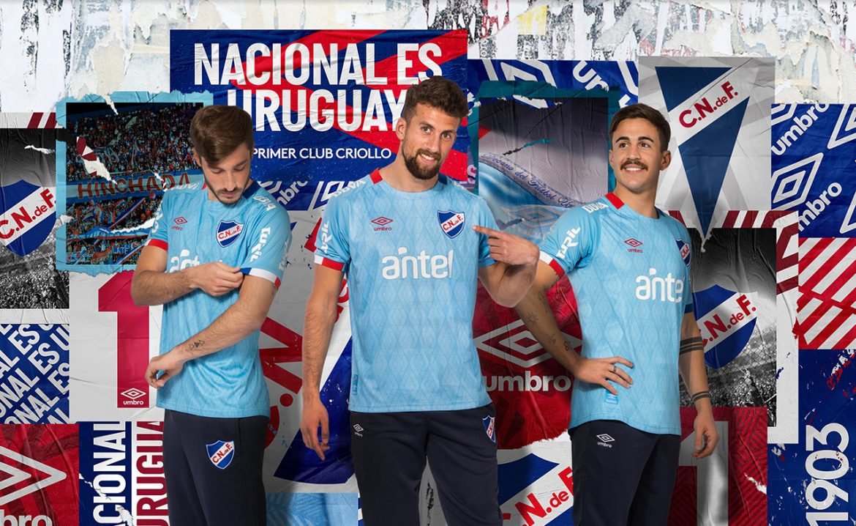 Camisa celeste do Club Nacional 2019-2020 Umbro abre