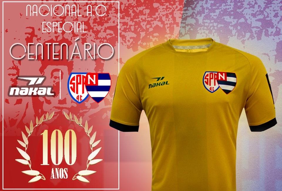 Camisa do centenário do Nacional AC 2019 Nakal