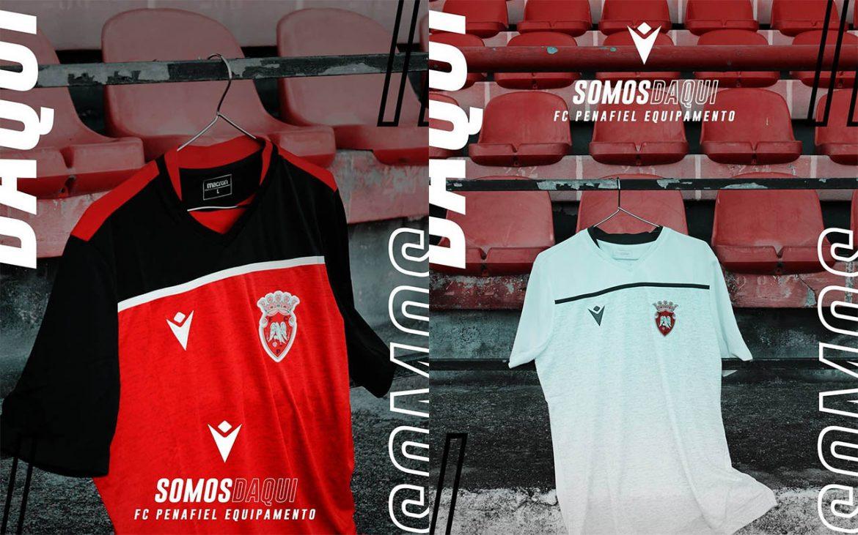 Camisas do FC Penafiel 2019-2020 Macron abre