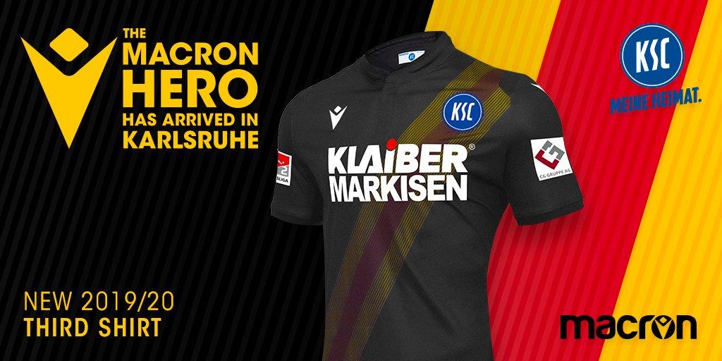 Camisas do Karlsruhe SC 2019-2020 Macron Terceira abre
