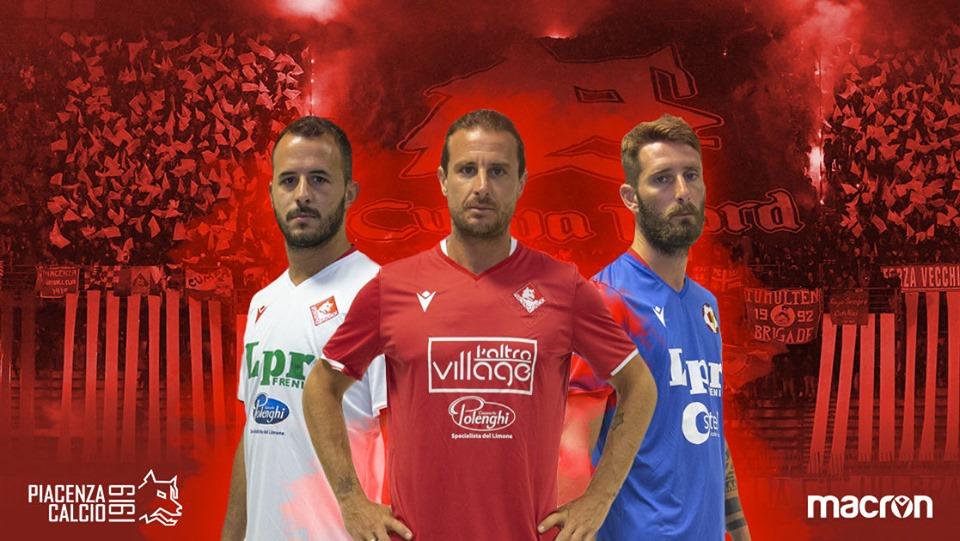 Camisas do Piacenza Calcio 2019-2020 Macron