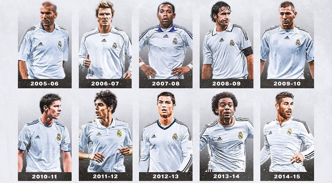 Camisas do Real Madrid 2005-2020 Piñeiro Design abre