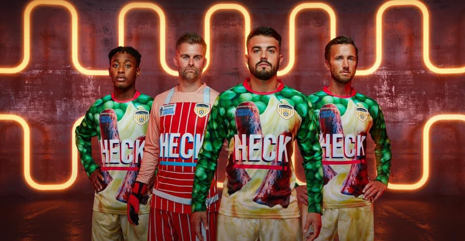 Camisas salsicha do Bedale AFC 2019-2020
