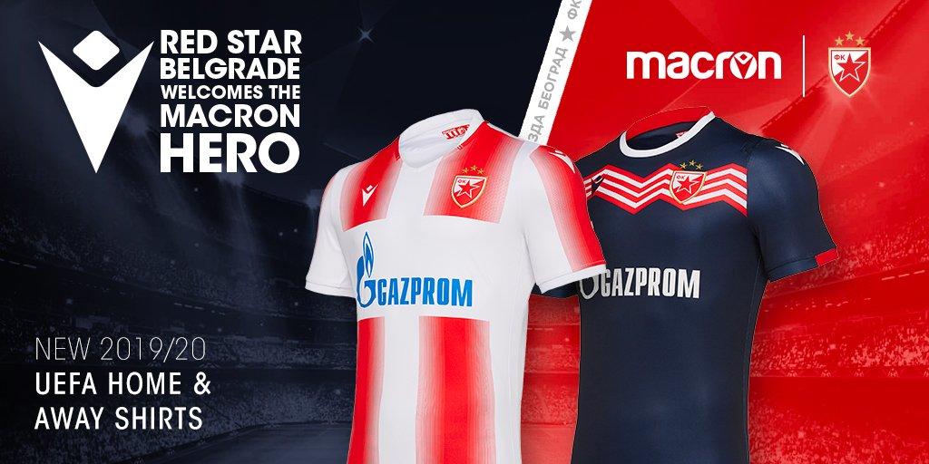 Camisas do Estrela Vermelha para a Champions League 2019
