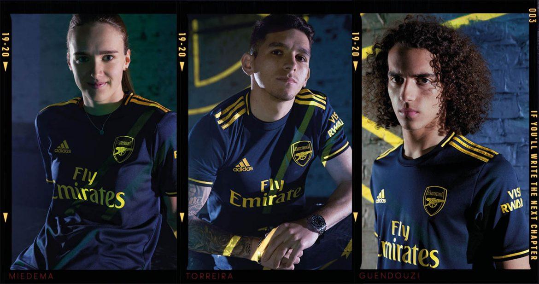 Terceira camisa do Arsenal 2019-2020 Adidas abre