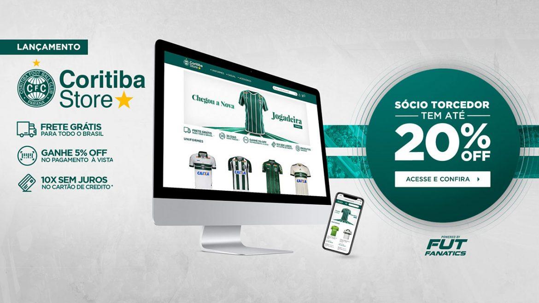 Coritiba lança nova loja virtual em parceria com a FutFanatics
