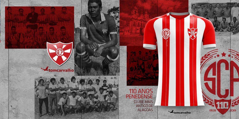 Camisa dos 110 anos do Penedense 2019 Tom Carvalho abre