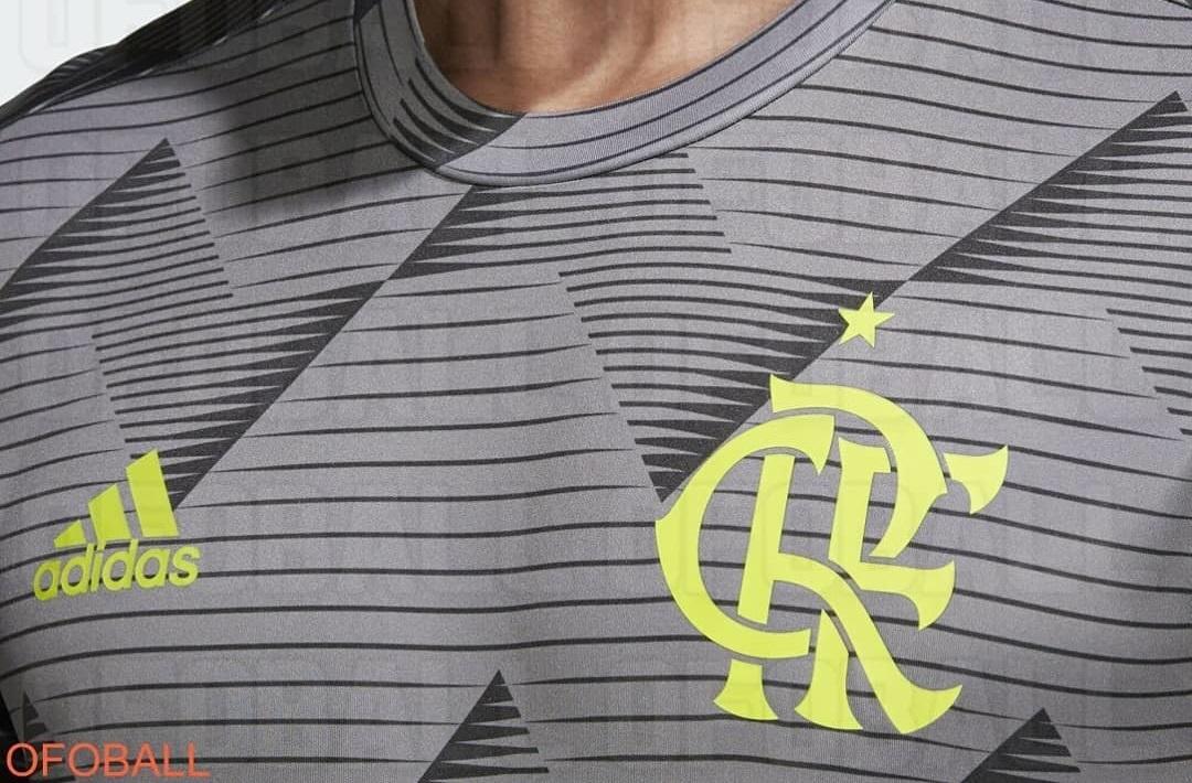 Camisa pré-jogo third do Flamengo 2019-2020 Adidas