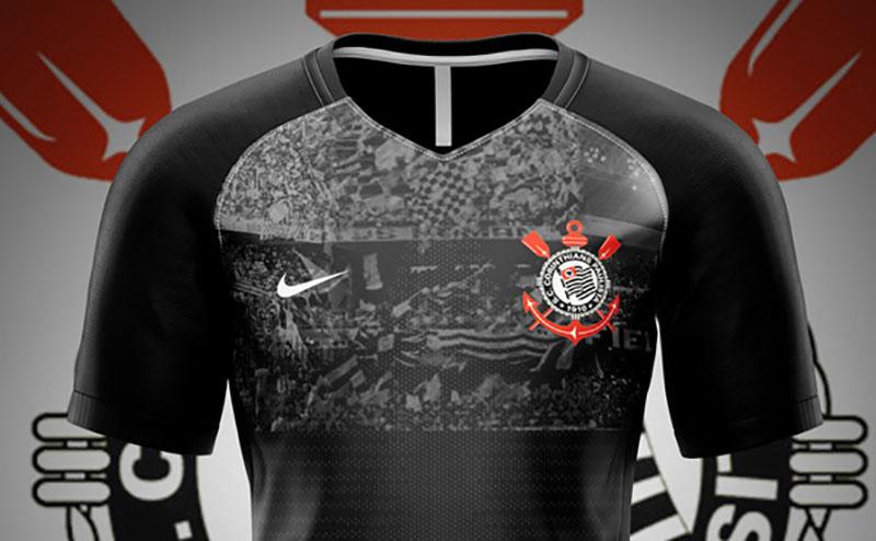 Leitor MDF Camisa 3 Invasão do Corinthians 2019 Nike (SSK) abre