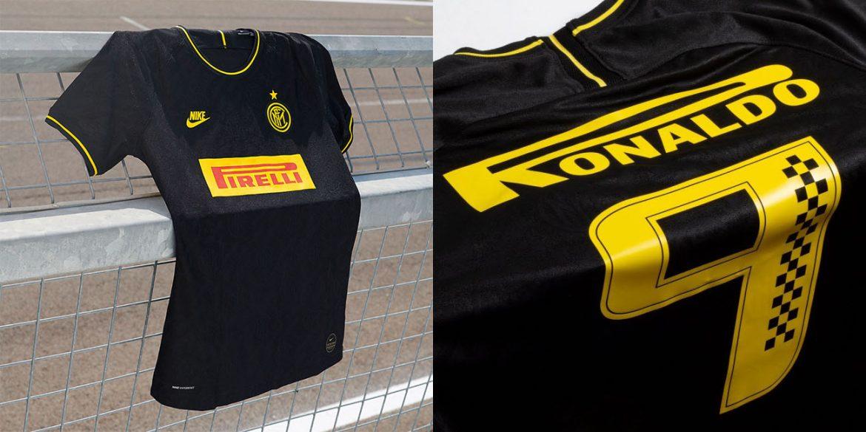Loja cria customização para Ronaldo em nova camisa 3 da Inter de Milão