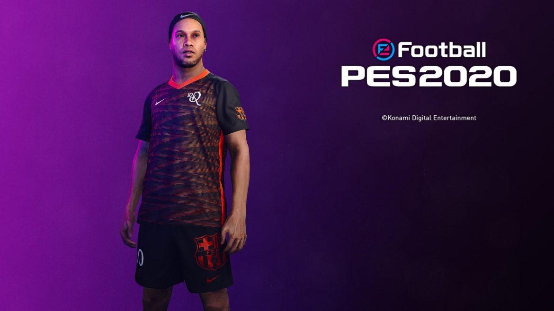 PES lança camisa exclusiva em parceria com Ronaldinho, Barça e Nike