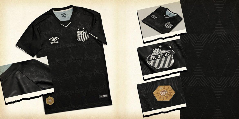 Terceira camisa do Santos FC 2019-2020 Umbro abre