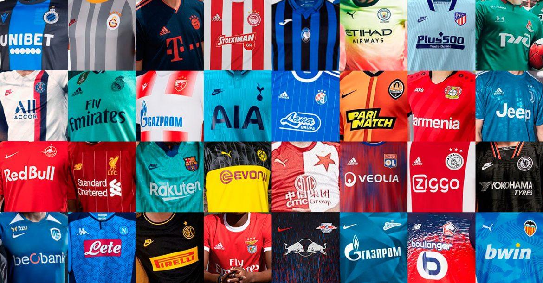 Uniformes e camisas da UEFA Champions League 2019-2020