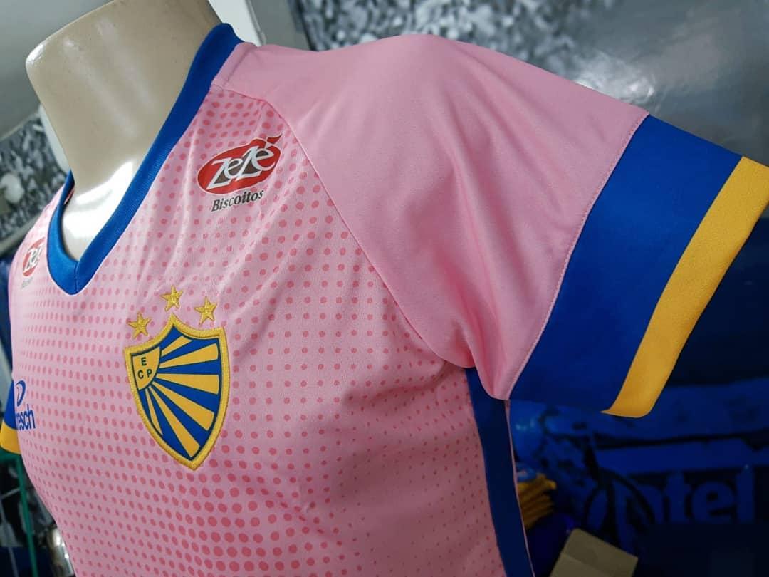 Camisa Outubro Rosa EC Pelotas 2019 Dresch Sport abre