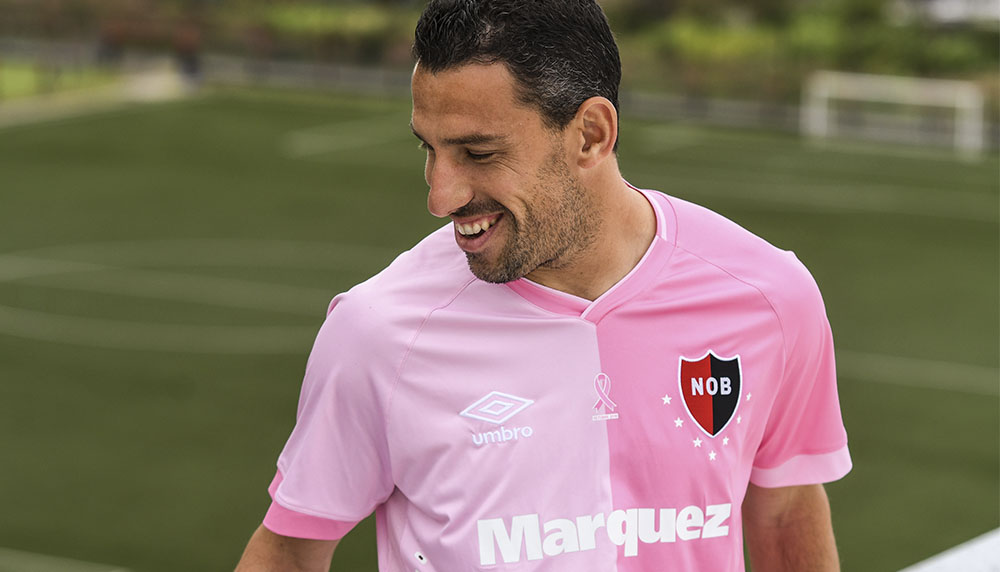 Camisa Outubro Rosa do Newell's Old Boys 2019 Umbro