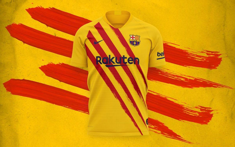 Camisa Senyera do Barcelona 2019-2020 Nike