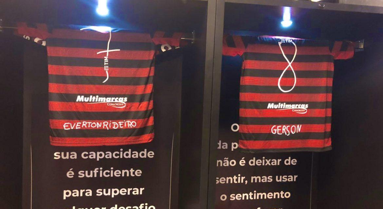 Flamengo joga com nomes e números desenhados por crianças