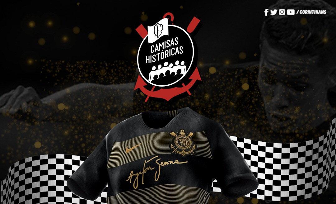 Torcida elege camisa Ayrton Senna a mais bonita do Corinthians
