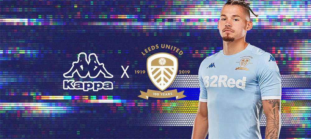 terceira camisa do Leeds United 2019-2020 Kappa abre
