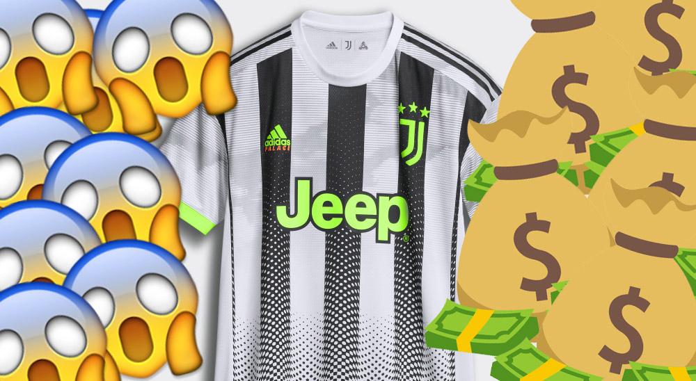 180 Euros Preço de camisa Palace da Juventus assusta torcedores