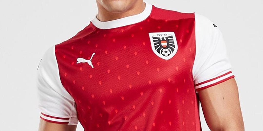Camisas da Áustria 2020 Puma Eurocopa