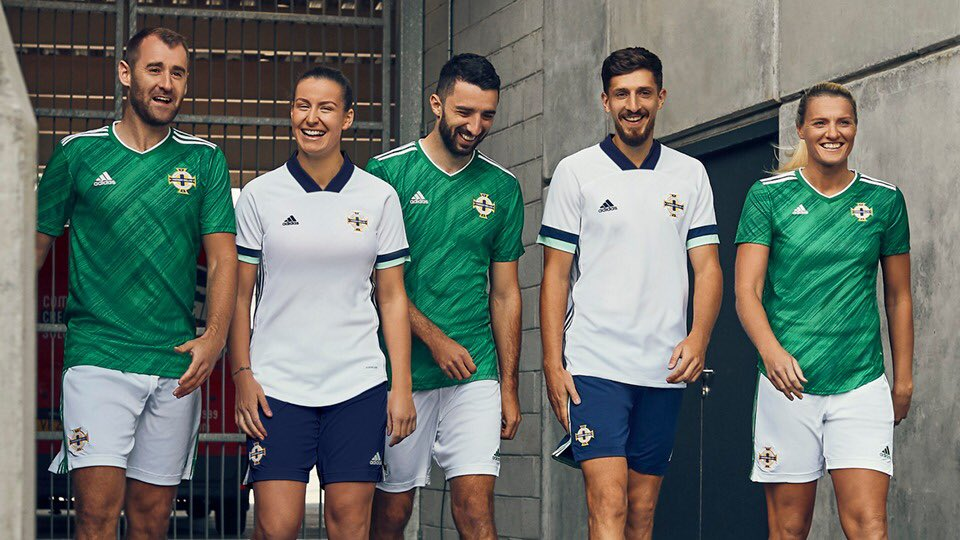 Camisas da Irlanda do Norte 2020-2021 Adidas