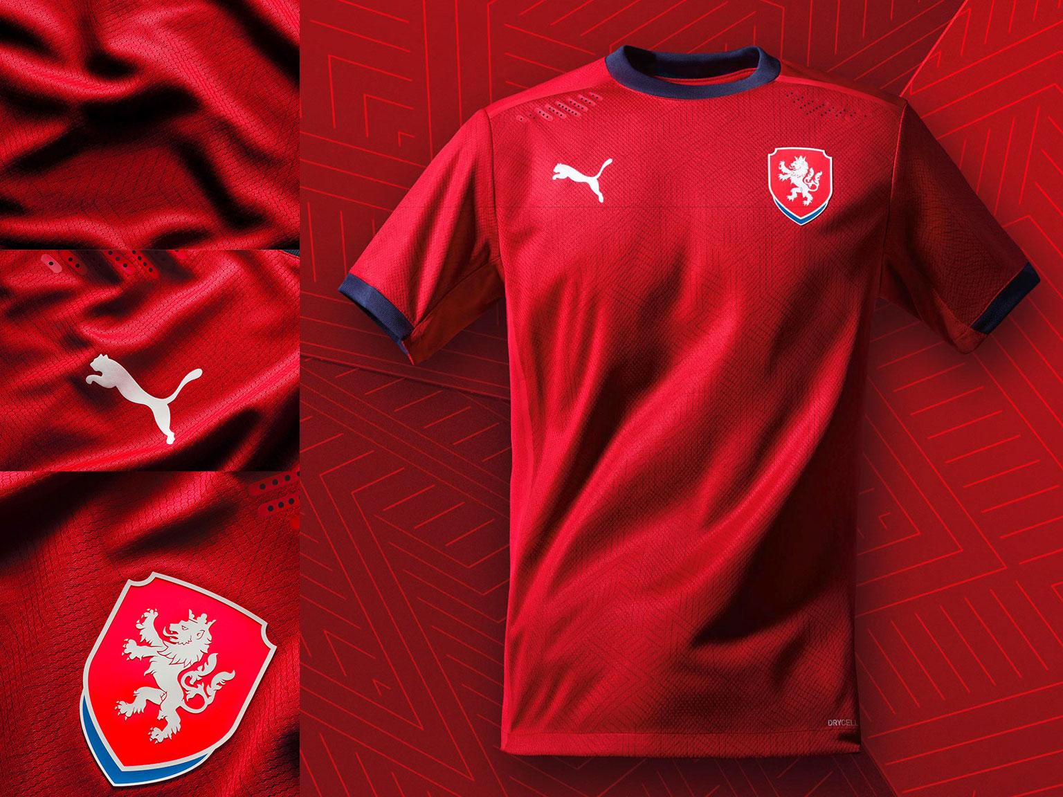 Camisas da República Tcheca 2020-2021 PUMA Titular