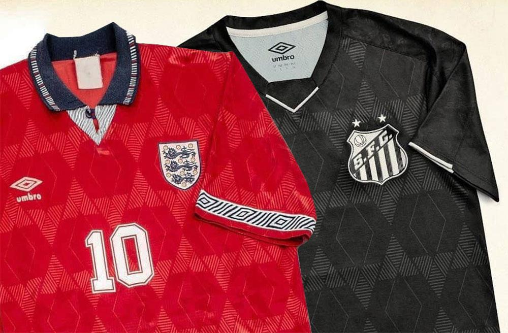Inspirações das terceiras camisas Anos 90 da Umbro 2019-2020