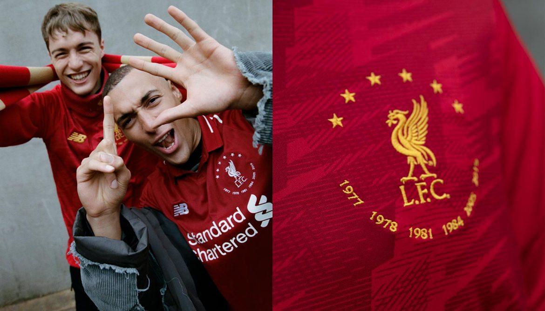 New Balance celebra títulos europeus do Liverpool com coleção especial abre