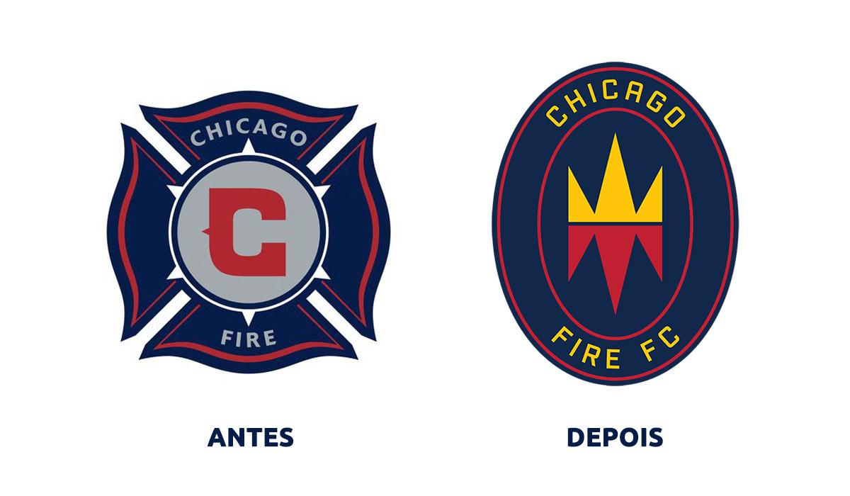 Nova identidade do Chicago Fire ANTES DEPOIS