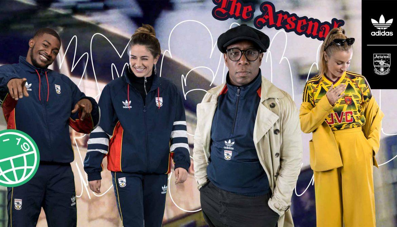 Arsenal x Adidas Originals Coleção retrô Bruised Banana Anos 90