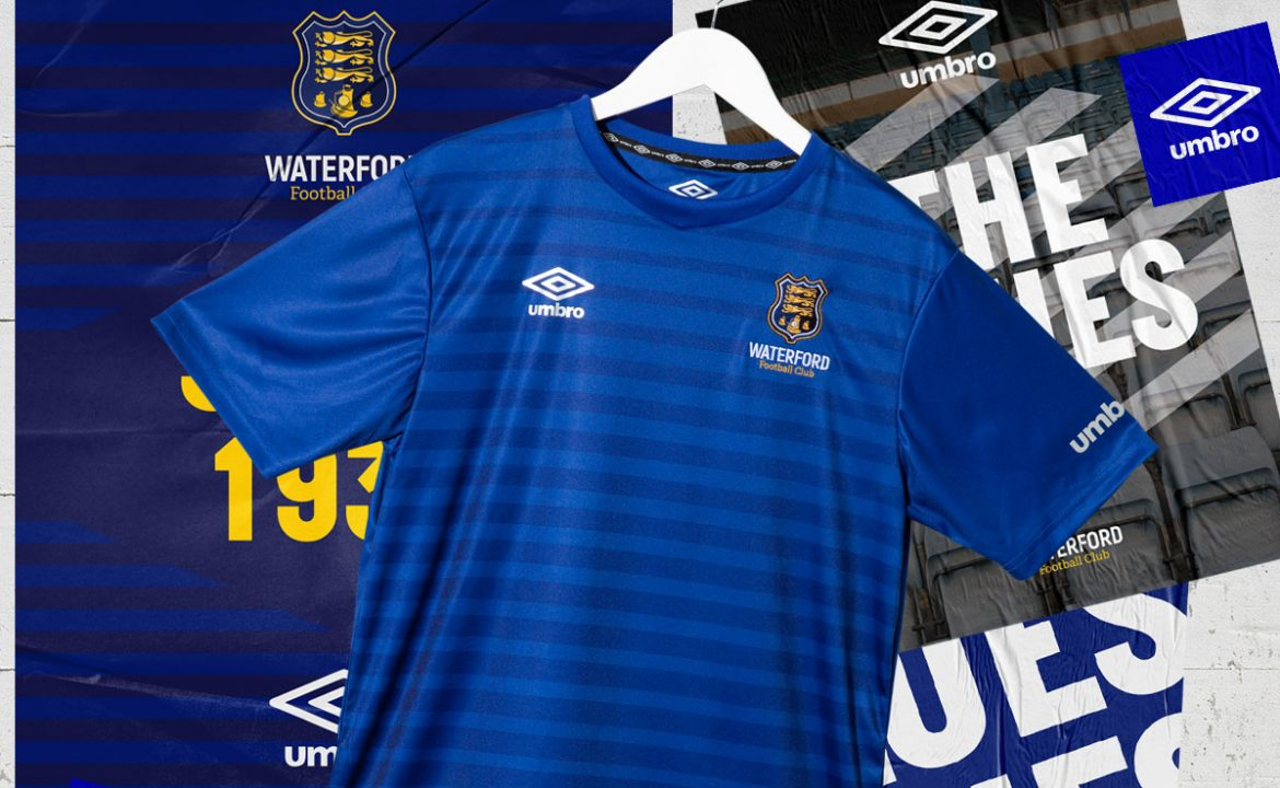 Camisas do Waterford FC 2020 Umbro abre