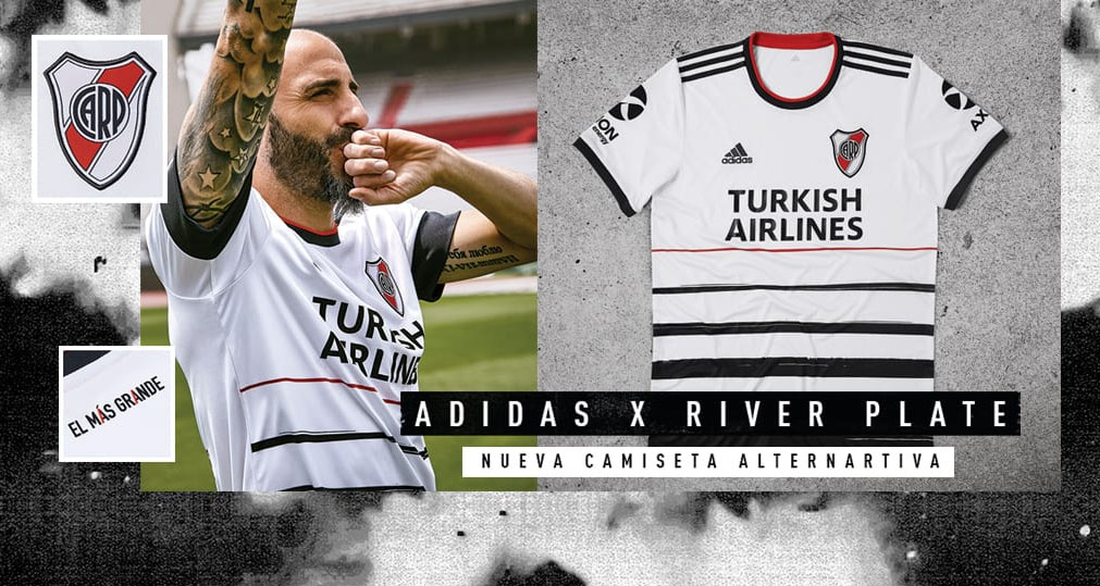 Terceira camisa do River Plate 2020 Adidas abre