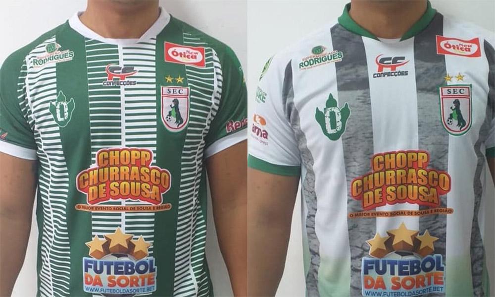 Camisas do Sousa EC 2020 Dino abre