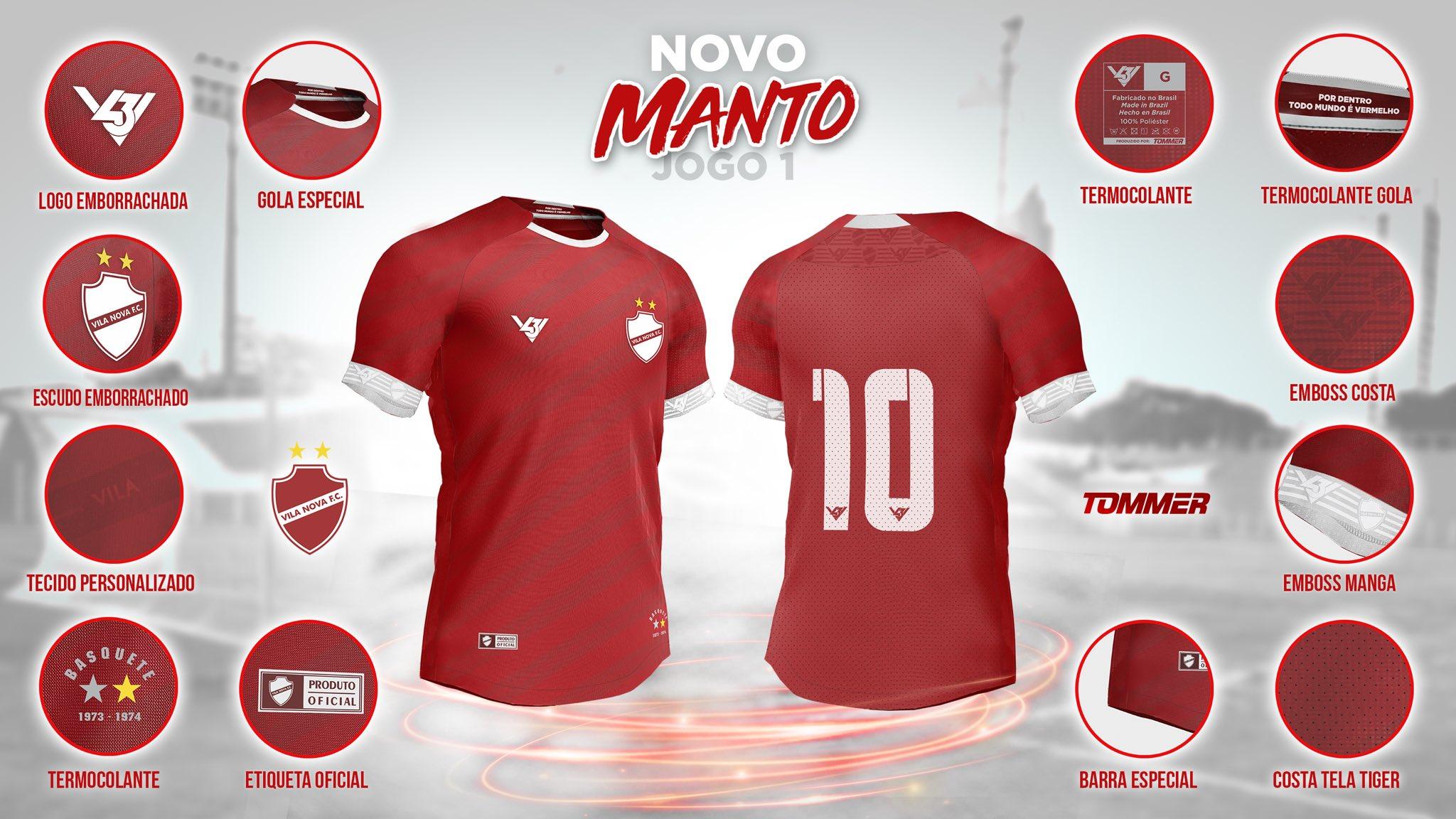 Camisas do Vila Nova 2020 V43 Titular
