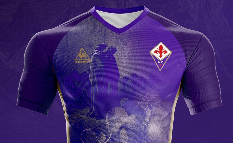 O Inferno de Dante Camisa Dante Alighieri Fiorentina Le Coq Sportif
