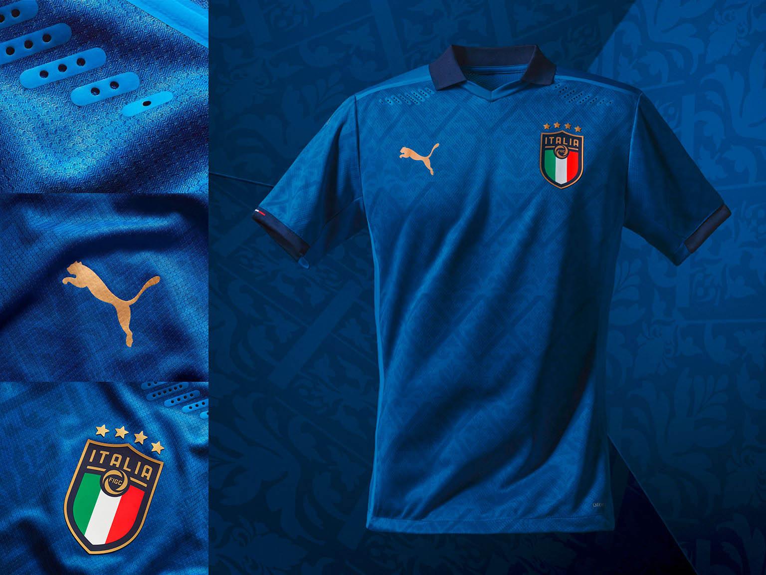 Camisa azul da Itália 2020-2021 PUMA | Eurocopa