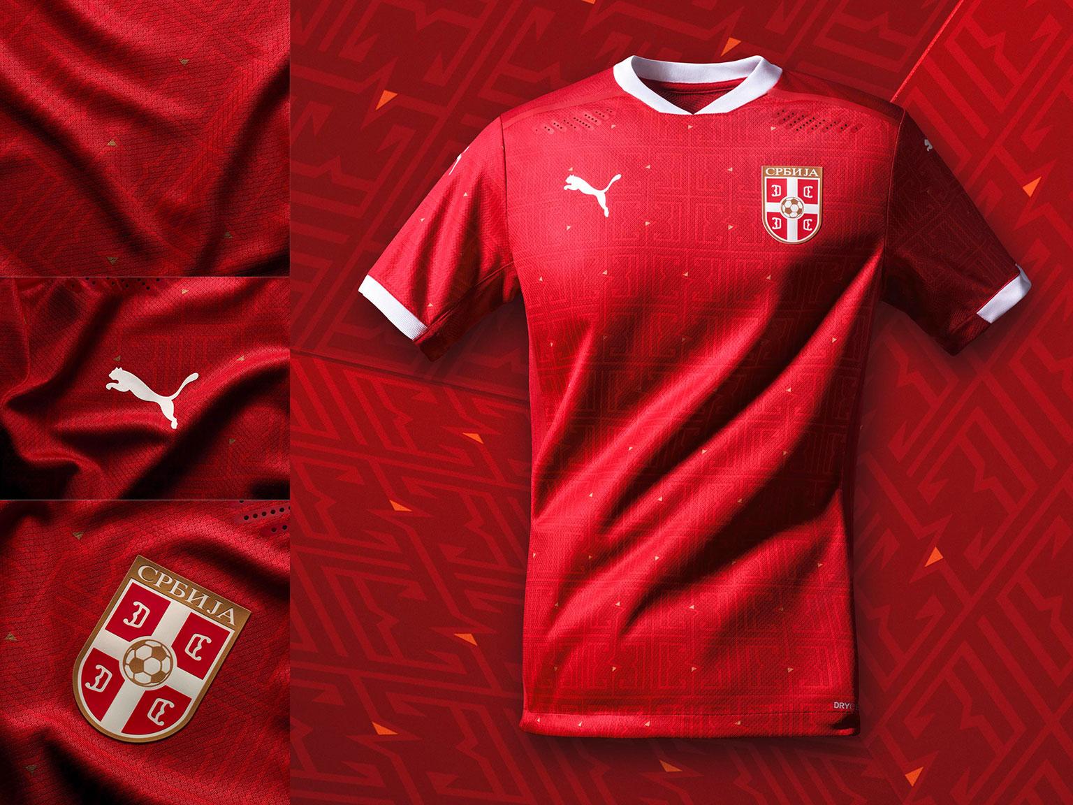 Camisas da Sérvia 2020-2021 PUMA Titular 4