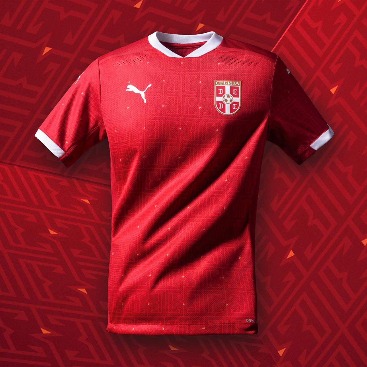 Camisas da Sérvia 2020-2021 PUMA Titular