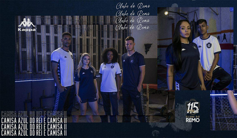 Camisas do Clube do Remo 2020 Kappa abre