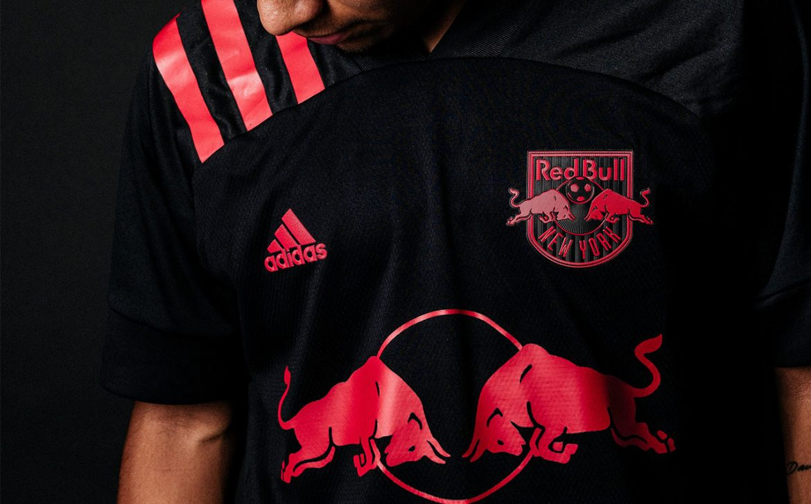 Camisas do New York Red Bulls 2020 Adidas abre
