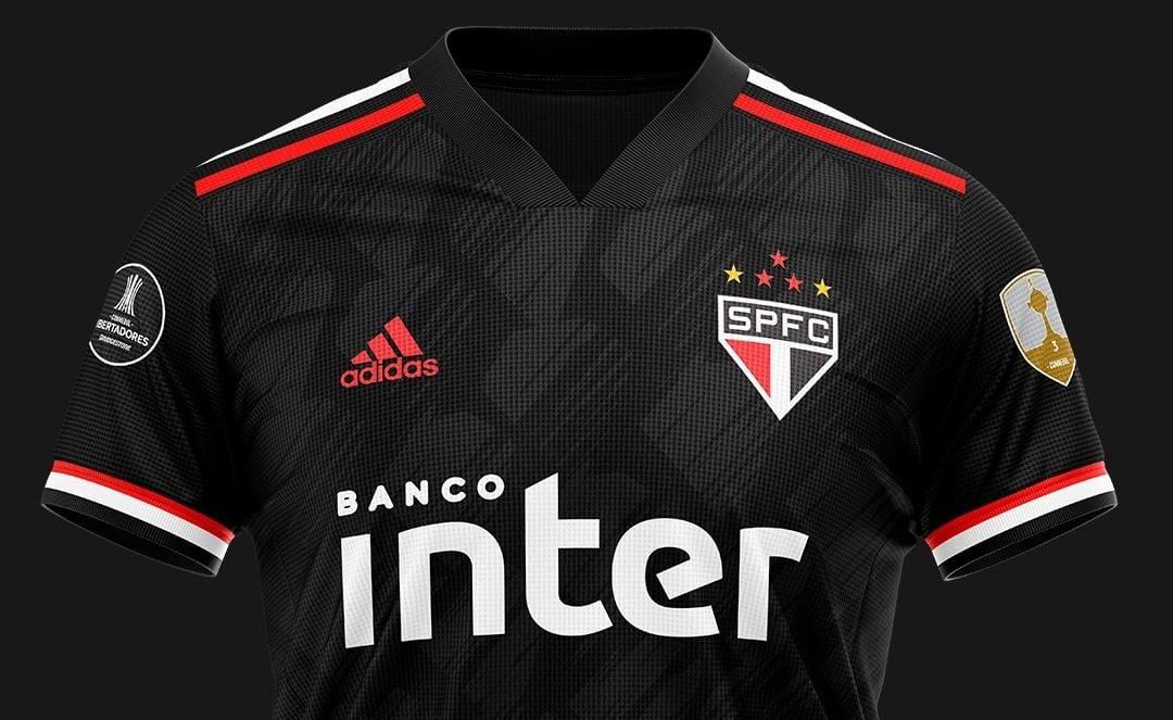 Camisa Diamante Negro do São Paulo 2020 Adidas (Kauai Designer)