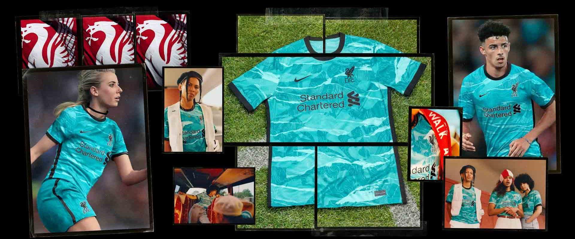 Camisa reserva do Liverpool FC 2020-2021 Nike a