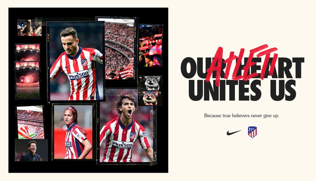 Camisas do Atlético de Madrid 2020-2021 Nike a