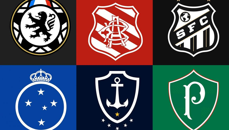 Escudos de equipes brasileiras modernizados (Don Elece)