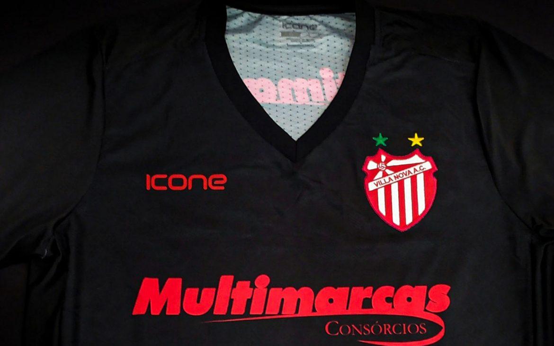 Terceira camisa do Villa Nova AC 2020 Ícone Sports abre